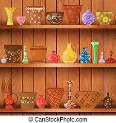 Vasen und Blumentöpfe aus Holz für Ihr Design.
