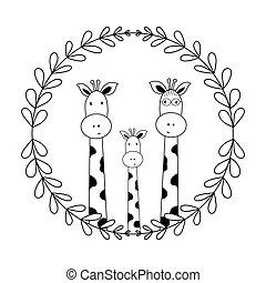 vati, zeichen, ihr, buecher, mutti, isolieren, vektor, gekritzel, reizend, hintergrund, baby, abbildung, karten, kinder, giraffen, parteien, t-shirts, abbildung, weißes, lustiges