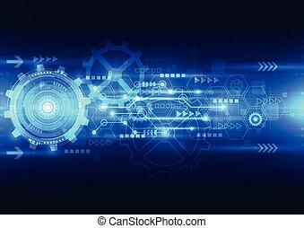 Vector Abstract Engineering zukünftige Technologie, elektrischer Telekommunikationshintergrund.