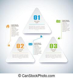Vector abstrakte 3d klebrige Infographics.