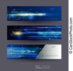 Vector abstrakte Banner setzen Geschwindigkeitsbewegungsmuster und Bewegungsunschärfe