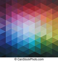 Vector abstrakte, bunte Dreiecksmuster.