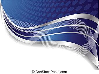 Vector abstrakter blauer Hintergrund mit Kreis