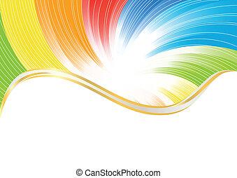 Vector, abstrakter Hintergrund in heller Farbe