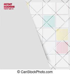 Vector abstrakter Hintergrund. Quadrate weiß