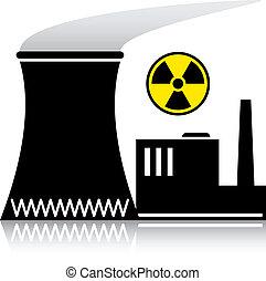 Vector Atomkraftwerk Silhouette