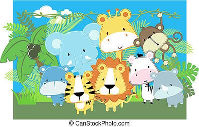 Vector Babytiere Safari