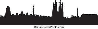 Vector - Barcelona Silhouette