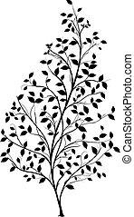 Vector Baum Silhouette - Grafik el.