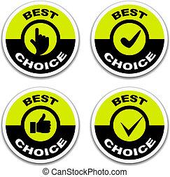 Vector Best Wahlaufkleber