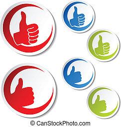Vector Best Wahlaufkleber - Geste Hand
