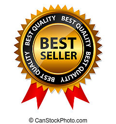 Vector Bestseller-Goldzeichen, Label-Schrift