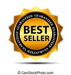 Vector Bestseller-Label mit rotem Band.