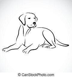 Vector Bild eines Hunde-Laboradors.