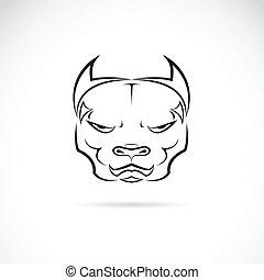 Vector Bild eines Hunde Pitbull-Kopf.