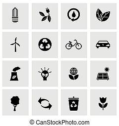 Vector Black eco Icons gesetzt.