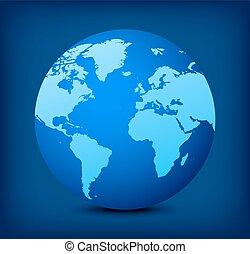 Vector Blue Globe Icon im Hintergrund