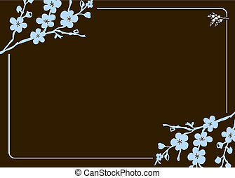 Vector Blumenrahmen