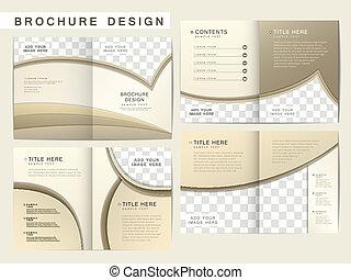 Vector Broschüre Layout Design Vorlage.