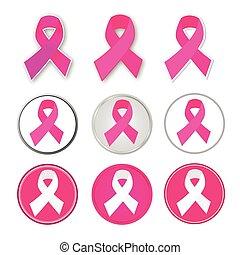 Vector Brustkrebsband.