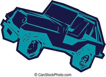 Vector Cartoon-Jeep