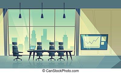 Vector Cartoon Konferenzsaal, Raum für Meetings