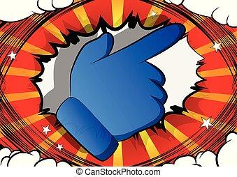 Vector Cartoon mit der Hand.
