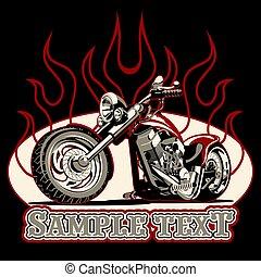 Vector Cartoon Motorrad