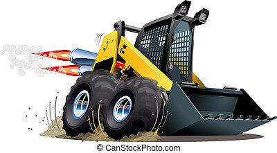 Vector Cartoon-Skid Steer
