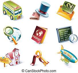 Vector Cartoon-Stil Icon Set. P.12