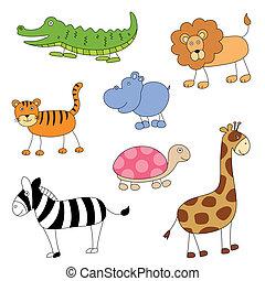 Vector Cartoon-Tiere