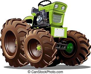 Vector Cartoon Traktor