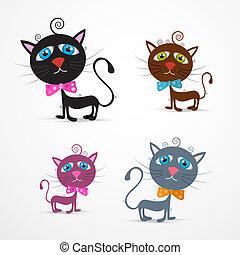 Vector Cat Illustration eingestellt.