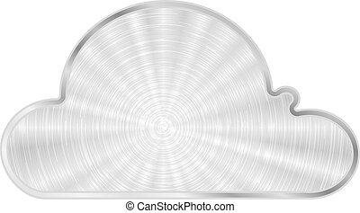Vector Cloud-Metal-Ikone