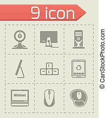Vector Computer Icon Set.