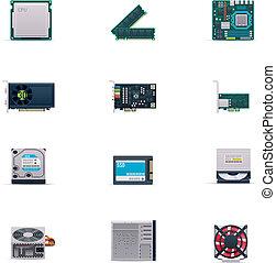 Vector Computerteile Icon Set