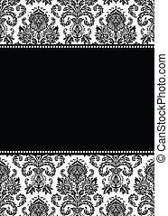 Vector Damask Muster und Bild