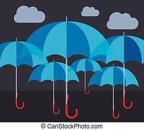 Vector deckt abstraktes Wetterkonzept.