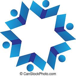 Vector des Teamwork Bücher Logo.