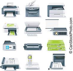 Vector detaillierte Computerteile Icon.