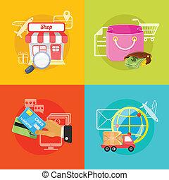 Vector E-Commerce Illustration.