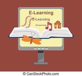 Vector E-Learning Konzept.