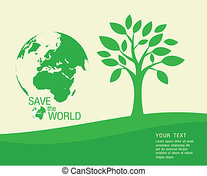 Vector - Ecological and save the wo.