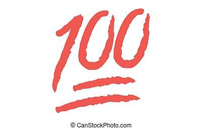 Vector - emoji 10000 Punkte Symbol - vektor - hundert hundert Punkte Symbol.