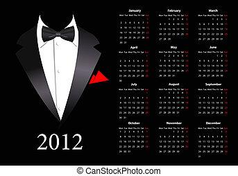 Vector european Kalender 2012
