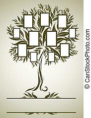 Vector-Familienbaum mit Rahmen