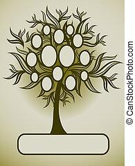 Vector-Familienbaumdesign