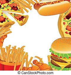 Vector Fast Food Hintergrund