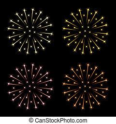 Vector Feuerwerk
