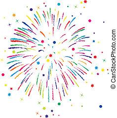 Vector Feuerwerks Hintergrund